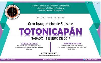 INAUGURACIÓN SUBSEDE TOTONICAPÁN