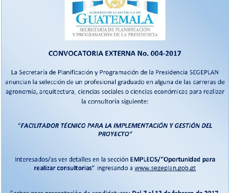 """""""FACILITADOR TÉCNICO PARA LA IMPLEMENTACIÓN Y GESTIÓN DEL PROYECTO"""""""