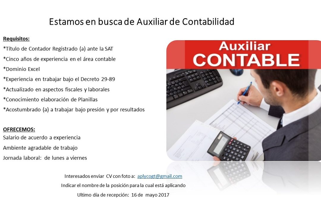 AUXILIAR DE CONTABILIDAD