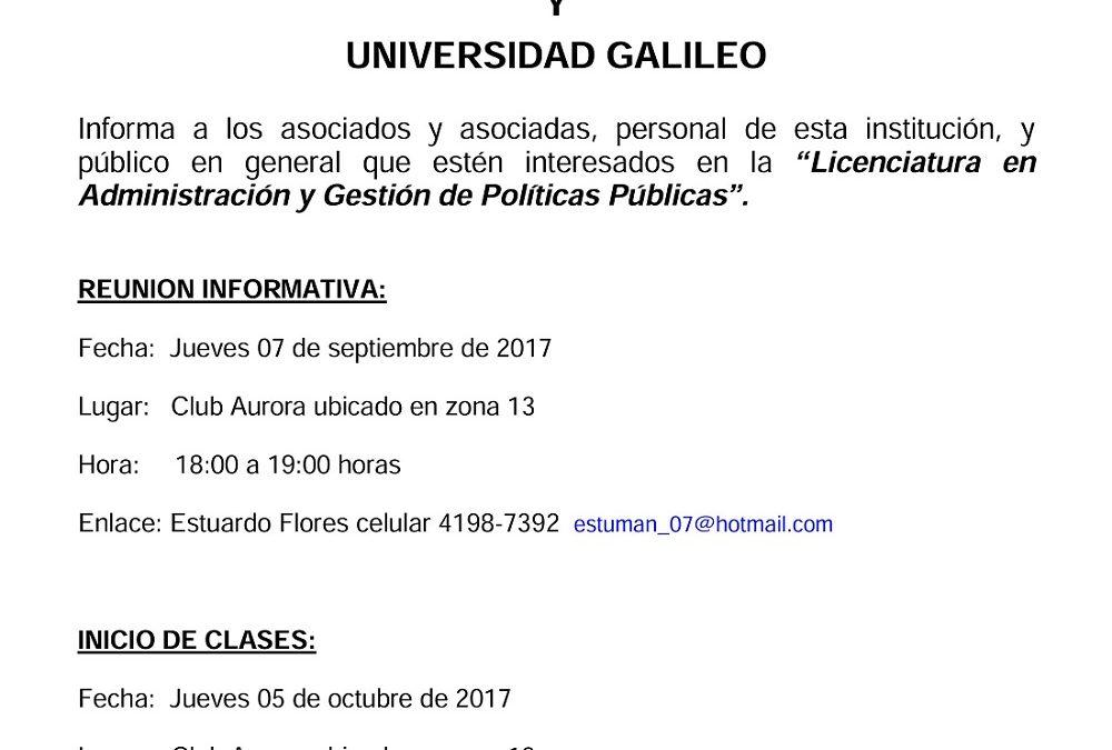 """""""LICENCIATURA EN ADMINISTRACIÓN Y GESTIÓN DE POLÍTICAS PÚBLICAS""""."""