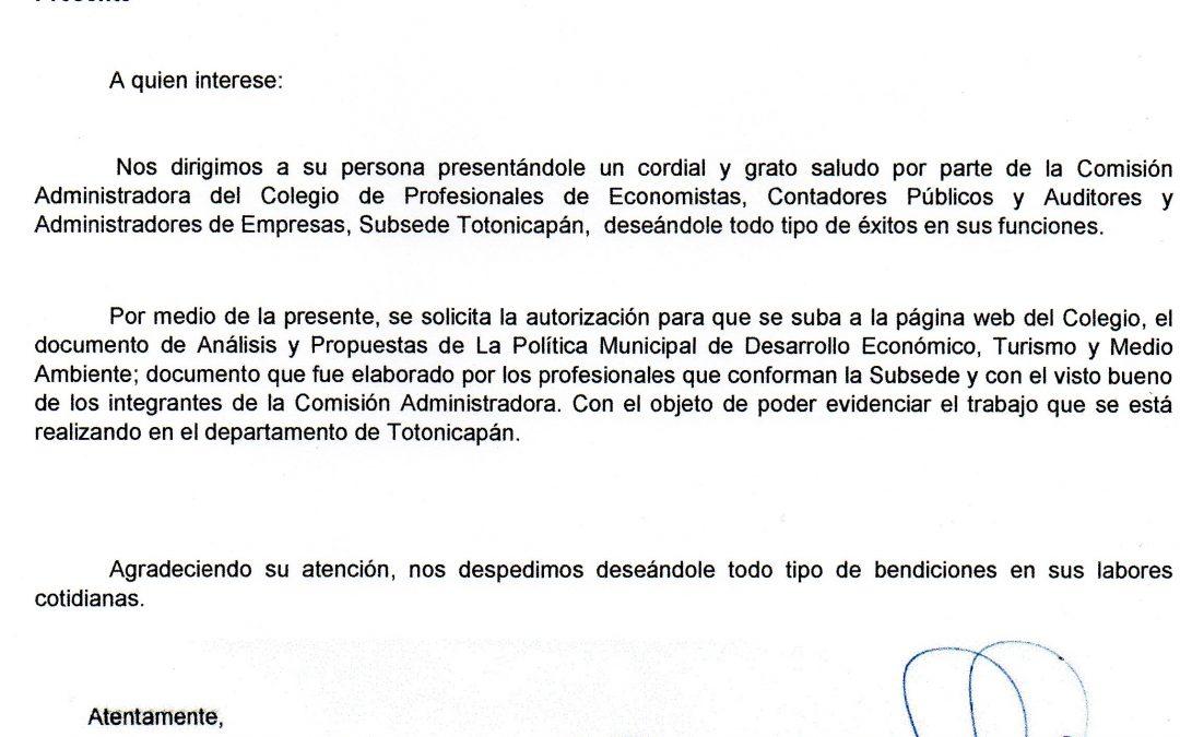 ANÁLISIS Y PROPUESTA DE LA POLÍTICA MUNICIPAL DE DESARROLLO ECONÓMICO, TURISMO Y MEDIO AMBIENTE